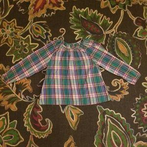 peek plaid boho shirt.  Large 8